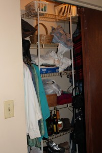 It is the ultimate case of when something needs to have a hidey hole it gets shoved in my closet.