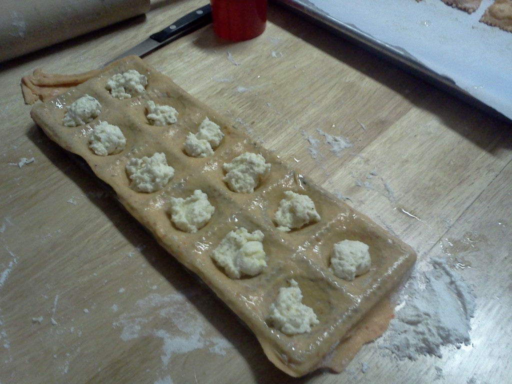 We used the Norpro Ravioli Maker with Press. Handy.